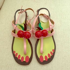 Cherry hatsumomo sandals flat pink toe new pearls